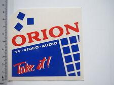 Autocollant sticker Orion-tv-vidéo-audio (7268)