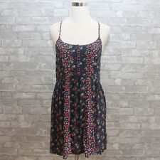 New Abercrombie & Fitch Womens Floral Dress Navy Small