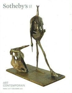 ART CONTEMPORAIN 2 CATALOGUES VENTE SOTHEBY'S PARIS 6-7/12/017