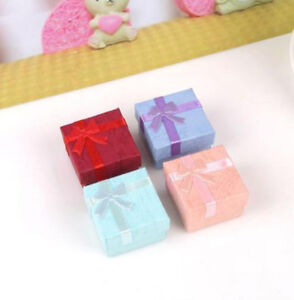 Wholesale Bowknot Present Gift Boxe For Necklace Bracelet Jewelry Ring Earring