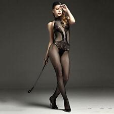 SEXY Dessous BODY Catsuit Schwarz uniform Stretch NETZ Fishnet Stocking ONE SIZE