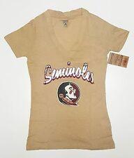 Florida State Seminoles V-Neck T-Shirt Size S Juniors Women Petite Girls NEW