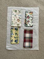 (4) Longaberger Fabric Table Napkins ~ Mixed