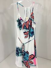 PINK OWL WOMEN'S FLORAL CAMI DRESS WHITE/MULTICOLOR MEDIUM NWT