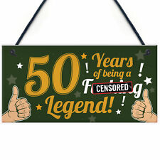 Funny 50th Birthday Present For Men Women 50th Birthday Card Keepsake Plaque
