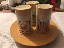 Salt & Pepper Shakers with Toothpick Holder ,made In Fort Worth, Tray, Tomato