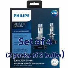 4 bulbs H4XULED Philips Ultinon LED - 2 Packs of 2 H4 LED Headlights 11342XUX2