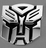 1X 3D Self Adhesive Autobot Transformers Logo Badge Graphics Decal Car Sticker
