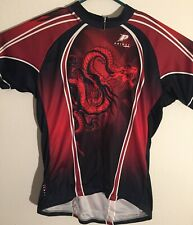 Primal Wear Mens XXL Chinese Dragon Short Sleeve Cycling Jersey Shirt 3/4 Zip