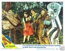 THE WIZARD OF OZ LOBBY SCENE CARD # 8 POSTER 1949-R DOROTHY SCARECROW TIN MAN
