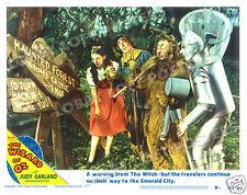 THE WIZARD OF OZ LOBBY SCENE CARD # 8 POSTER 1949-R DOROTHY SCARECROW TIN MAN