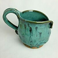 New Handmade Hand Thrown Pottery Stoneware Large Mug Signed Artist Free form 224