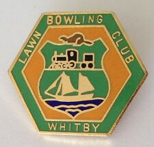 Whitby Lawn Bowling Club Badge Rare Railway Design Vintage Canada (K8)