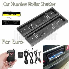 EU Electric Hide Device Stealth Shutter License Plate Car Number Roller Protect