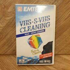 More details for emtec vhs s-vhs cleaning tape-  head drive cleaner