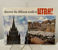 Vintage 1960s Discover the Different World of Utah Tourist Travel Guide Booklet