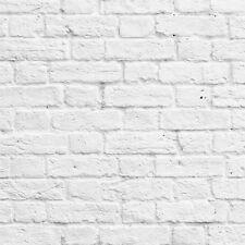 Muriva - 102539 - Blanco/Gris Pintado Blanco Lavado Papel Efecto Ladrillo