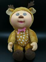 """Cabbage Patch Reindeer Kids Cuties Doll Holiday 10"""" pink bow brow eyes"""