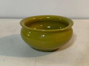 Chinese Yellow Mustard Glazed Porcelain Brush Washer Pot Tianqi Mark