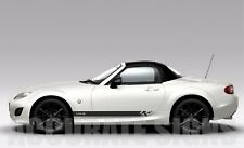 SIDE STRIPES (PAIR) FOR MAZDA MX5 CAR DECALS GRAPHICS ANY COLOUR