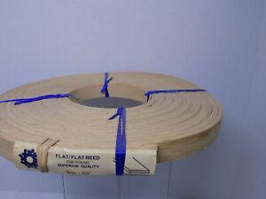"FLAT REED 3/4"" SPLINT 100 Foot Coil Chair Basket Cane Spline Weave NOS"
