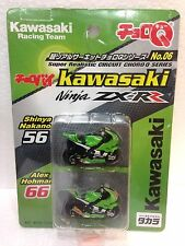JAPAN TOMY CHORO Q CHOROBIKE KAWASAKI NINJA ZX-RR MOTORCYCLE RACING TEAM SET