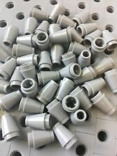 LEGO 1x1 Light Gray Round Nose Cones Bricks Small New Lot Of 50