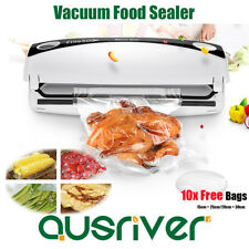 100W Food Vacuum Sealer Saver Storage Preservation Machine Heat with Free Bags