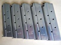 1911  10mm mag, magazine,mags, 5 mags,8 shot, stainless steel. USA