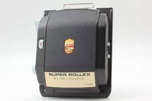 【MINT】 Linhof Super Rollex 6x7 Black 2¼ x 2¾ Roll Film Back Holder black JAPAN