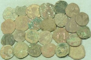 LOT OF 25 UNCLEANED LARGE ROMAN / BYZANTINE BRONZE COINS