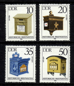 (Ref-5604) East Germany 1985 Letter-boxes SG.E2636-2639  Mint (MNH)