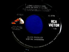 ELVIS PRESLEY~LONG LEGGED GIRL~VG++~RARE~SLEEVE AND RECORD~RCA 47-9115 ~ POP 45