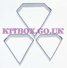 KIT di-DIAMOND Sugarcraft Cutters 3 Set-ACCIAIO INOX CUTTERS