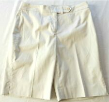 NWT Jones New York Women's Beige Stone Cotton Blend Dress Shorts Size: 8P
