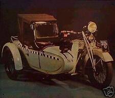 Altes Blechschild Oldtimer Motorrad Gespann Taxi Harley Davidson gebraucht  used