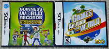 Nintendo DS NDS Lot - Guinness World Records (New) Games Around the World (New)