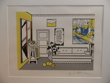 """Roy Lichtenstein """" Artist's Studio"""" Lithograph plate signed"""