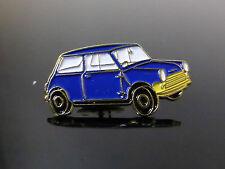 MINI ENAMELED BLUE CAR BADGE PIN CLIP