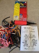 'WAY COOL SPAGHETTI BALLOONS' Balloon Animals Book, Pump, Balloons -Magic-Party