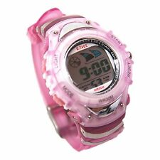 Girls Digital Watches Day Date Alarm Stopwatch Timer Backlight Pink +Free Watch