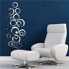 3D Spiegel Wandtattoo Wandsticker Wandbild Dekoration Kreise Wall Sticker