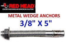 "Red Head Concrete Anchor 3/8"" x 5"" wedge anchor #50094"