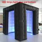 Inflatable Photobooth Tent Backdrop LED Party Event Modern Photo Shoot Accessory