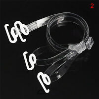 1pair Clear Transparent Hook Straps Invisible Adjustable Bra Shoulder Straps XL