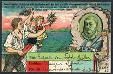 Boer War 1900 Kruger in Exile Postcard Sent from Switzerland to Paris