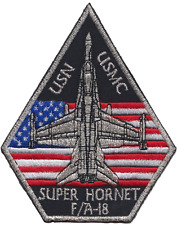 USMC F/A-18 Super Hornet Fighter Jet Embroidered Patch ** LAST FEW **
