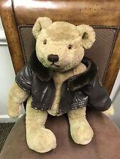 "Gund Bialosky 1982 Jointed ""Aviator Bears"" 17"" Stuffed Bear"