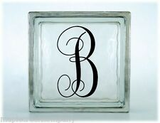 One Letter MONOGRAM Decal ~ Choose Decal Color & Size