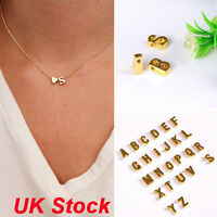 Fashion Womens Simple Necklace Lovers Gift 26 Letter Heart-shaped Charm Pendant